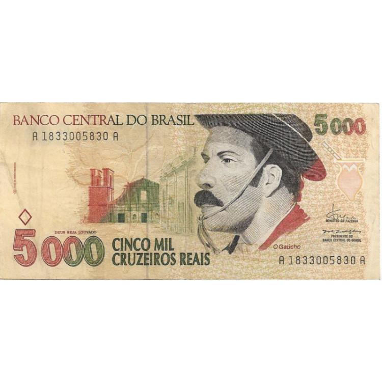 C246 1993 5000 Cruzeiros Reais FE