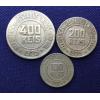 Sequência 100,200 e 400 réis 1925 MBC