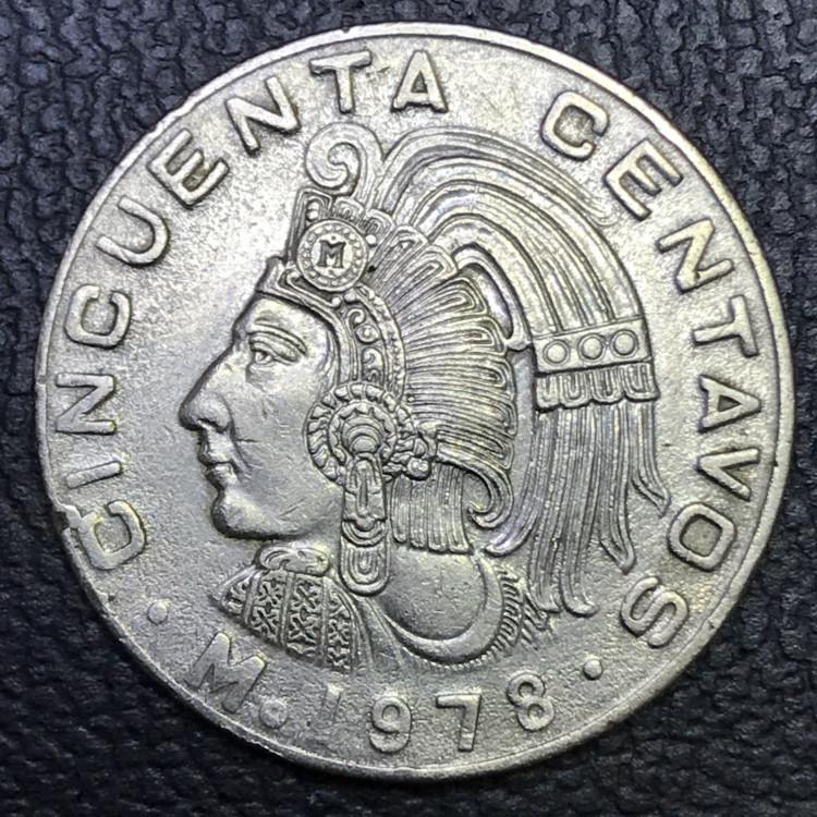 Mexico 50 centavos peso 1978 SOB