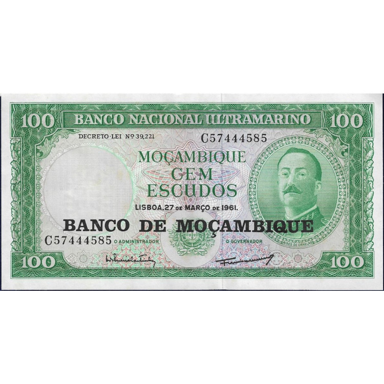 Moçambique 100 escudos 1990 FE