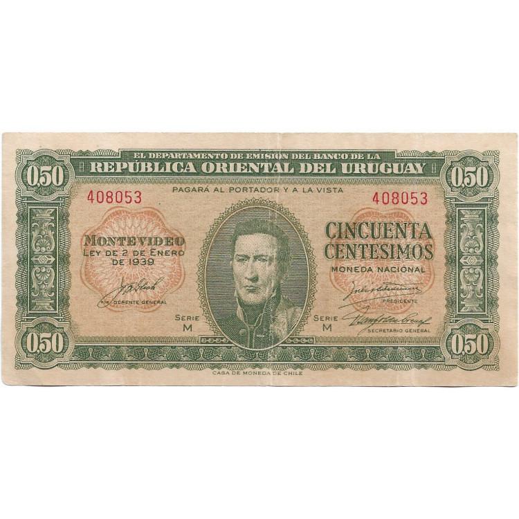 Uruguai 0,5 pesos 1939 SOB