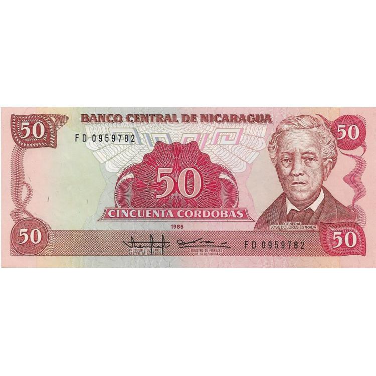 Nicarágua 50 cordobas 1985 FE