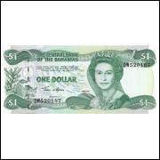 Bahamas 1 dollar Queen Elizabeth 2001 FE