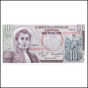 Colombia 10 pesos 1980 FE