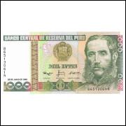 Peru 1000 intis 1988 FE