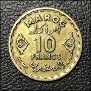 Marrocos  10 francos 1952 SOB/FC