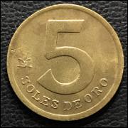Peru 5 soles 1981 SOB