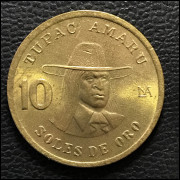 Peru 10 soles de oro 1981 SOB/FC