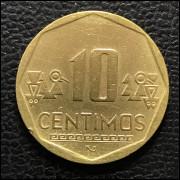 Peru 10 centimos soles 2007 SOB
