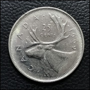 Canadá  25 cents  1969 MBC