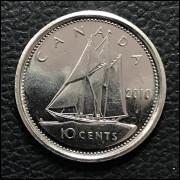Canadá  10 cents  2010 FC