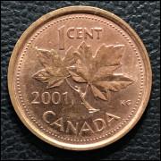 Canadá  1 cent 2001 SOB