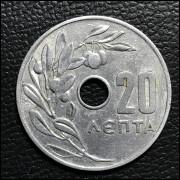 Grécia 20 lepta 1966 SOB