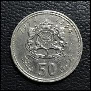 Marrocos 50 santimat 1974 MBC