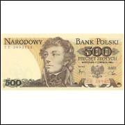 Polônia 500 Zlotych 1982 FE